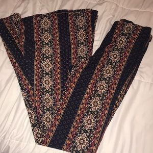 Forever 21 Pattern Flare Pants